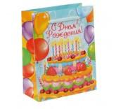 """Пакет ламинат вертикальный """"Торт на День Рождения"""" 11см х 14см"""