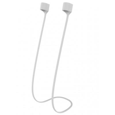 Купить Магнитный силиконовый ремешок для наушников Apple AirPods (белый) с доставкой по России