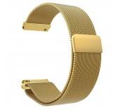 Стальной сетчатый браслет с магнитной застежкой для Xiaomi Amazfit Bip (золотой)