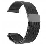 Стальной сетчатый браслет с магнитной застежкой для Xiaomi Amazfit Bip (черный)