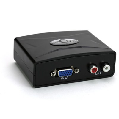 Купить Видео конвертер HDMI to VGA с Audio выходом с доставкой по России