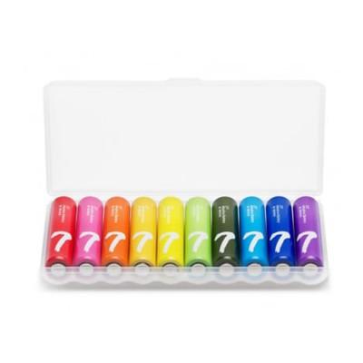 AAA - Xiaomi Rainbow Colors 7 набор батареек 10 шт