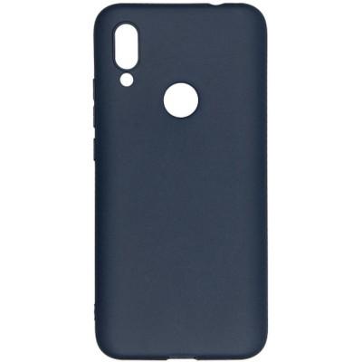 Купить Силиконовый чехол бампер для Xiaomi Redmi 7 (синий) с доставкой по России