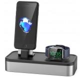 Подставка - док станция для Apple iPhone, Apple Watch из алюминия BlackMix DS-1