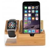 Подставка - зарядная станция для Apple iPhone, Apple Watch из дерева