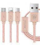 Type C - micro USB - Lightning (3 в 1) кабель Baseus для зарядки смартфонов