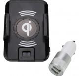 Беспроводная зарядка - автомобильный держатель в комплекте с АЗУ