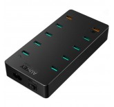 Зарядная станция Aukey PA-T8 на 10 портов с быстрой зарядкой Quick Charge 3.0