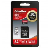 Карта памяти OltraMax micro SDXC 64GB class 10