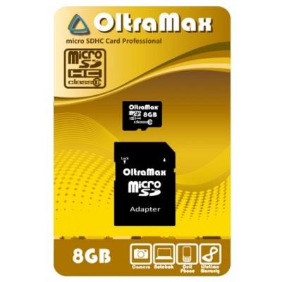 Купить Карта памяти OltraMax micro SDHC 8GB class 10 с доставкой по России