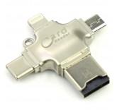 Card Reader iDragon R005 4 в 1 (lightning, type-c, micro USB)