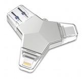 Флэш-накопитель/Card Reader iDragon U016 4-in-1 Micro-USB/USB-C/8-pin/USB 3.0 Flash Drive (32GB)