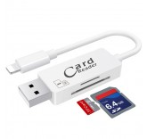 Card Reader и дата кабель Lightning  для Iphone/ipad (White)