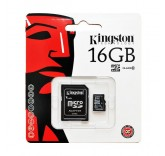 Карта памяти Kingston micro SDHC 16GB class 10
