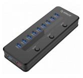 Концентратор ORICO H10C1-U3 на 11 USB 3.0 портов + быстрая зарядка
