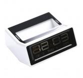 Будильник с термометром (белый)