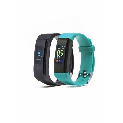 Купить Фитнес браслет Smarterra Fitmaster 4 (черный+зеленый) с доставкой по России