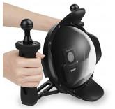Купол аквабокс DOME PORT SHOOT с блендой и ручками для экшн камеры GoPro Hero 3/3+/4
