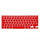 """Силиконовая накладка на клавиатуру красная для MacBook 12""""/13""""/15""""/17"""""""
