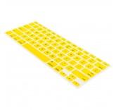 Силиконовая накладка на клавиатуру для MacBook с русскими буквами (Желтая)