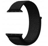 Нейлоновый ремешок Sport Loop Dark Black для часов Apple Watch 42mm