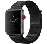 Нейлоновый ремешок Sport Loop Dark Black для часов Apple Watch 38mm