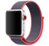 Нейлоновый ремешок Sport Loop Red Black для часов Apple Watch 38mm