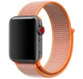 Нейлоновый ремешок Sport Loop Spicy Orange для часов Apple Watch 38mm