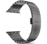 Блочный браслет Link Bracelet Black скрытая застежка для часов Apple Watch 38mm