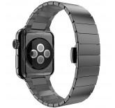 Блочный браслет Link Bracelet Black скрытая застежка для часов Apple Watch 42mm