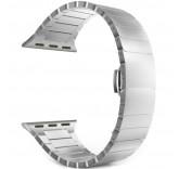 Блочный браслет Link Bracelet Silver скрытая застежка для часов Apple Watch 38mm