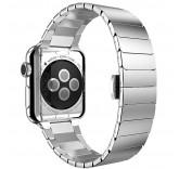 Блочный браслет Link Bracelet Silver скрытая застежка для часов Apple Watch 42mm