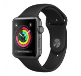 Часы Apple Watch Series 3 42mm Aluminum Case with Sport Band (Black) MQL12