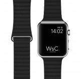 Кожаный ремешок Leather Loop Charcoal Gray для часов Apple Watch 42mm
