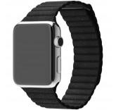 Кожаный ремешок Leather Loop Charcoal Gray для часов Apple Watch 38mm