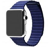 Кожаный ремешок Leather Loop Midnight Blue для часов Apple Watch 38mm