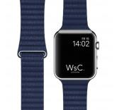 Кожаный ремешок Leather Loop Midnight Blue для часов Apple Watch 42mm