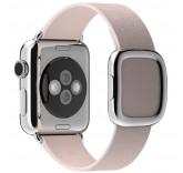 Кожаный ремешок Leather Modern Buckle Beige для часов Apple Watch 38mm