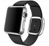 Кожаный ремешок Leather Modern Buckle Black для часов Apple Watch 42mm