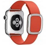 Кожаный ремешок Leather Modern Buckle Red для часов Apple Watch 38mm