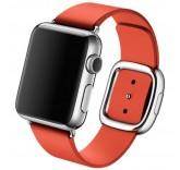 Кожаный ремешок Leather Modern Buckle Red для часов Apple Watch 42mm