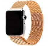 Ремешок Миланский сетчатый браслет Milanese Loop Gold для часов Apple Watch 42mm