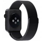 Ремешок Миланский сетчатый браслет Milanese Loop Black для часов Apple Watch 38mm
