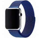 Ремешок Миланский сетчатый браслет Milanese Loop Blue для часов Apple Watch 42mm