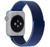 Ремешок Миланский сетчатый браслет Milanese Loop Blue для часов Apple Watch 38mm