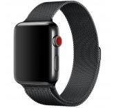 Ремешок Миланский сетчатый браслет Milanese Loop Black для часов Apple Watch 42mm