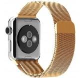 Ремешок Миланский сетчатый браслет Milanese Loop Gold для часов Apple Watch 38mm
