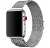 Ремешок Миланский сетчатый браслет Milanese Loop Silver для часов Apple Watch 42mm