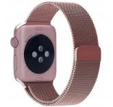 Ремешок Миланский сетчатый браслет Milanese Loop Rose Gold для часов Apple Watch 38mm