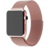 Ремешок Миланский сетчатый браслет Milanese Loop Rose Gold для часов Apple Watch 42mm